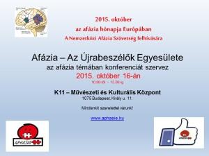2015 október Az afázia hónapja