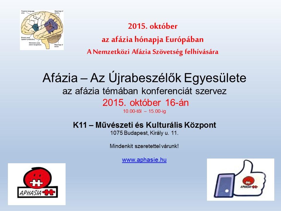 Az Afázia Hónapja – a Stroke Világnapja – 2015. október 16.