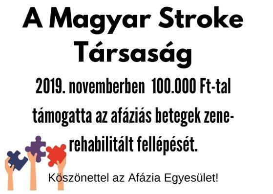 Az Afázia Egyesület támogatása – Magyar Stroke Társaság