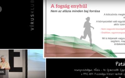 dr. Pataky Ilona – Az afázia fogságában – 2015. október 4.